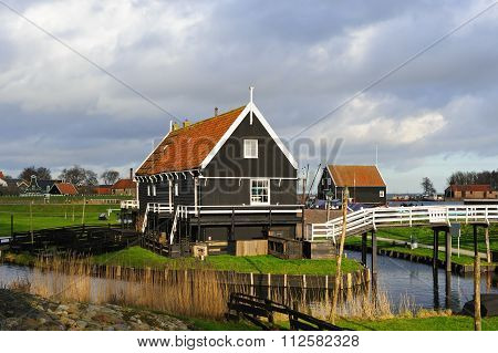 ENKHUIZEN, NORTH-HOLLAND/ THE NETHERLANDS - DECEMBER 21: Old House From The Island Of Marken In The