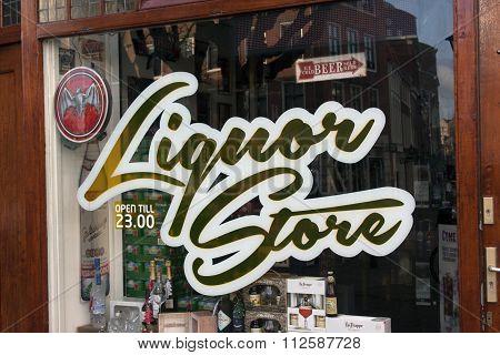 Facade Of S Liquor Store