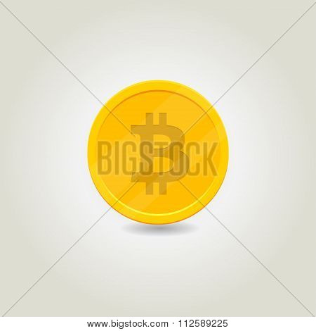 Illustration Golden Bitcoin