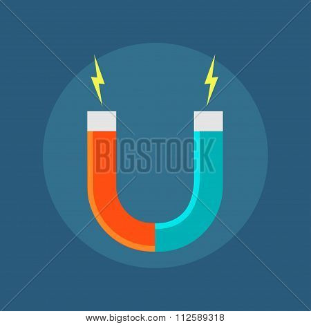 Vector icon isolated horseshoe magnet