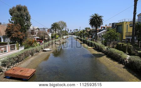 Venice Beach Canal District, In Los Angeles, Califonia, Usa