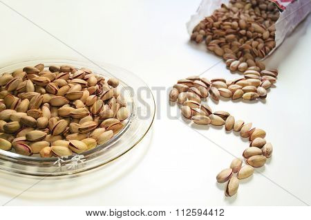 pistachio nuts peanuts on table