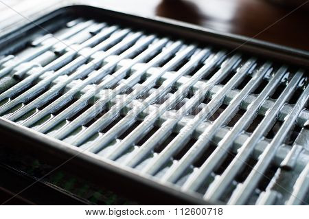 Roaster And Vegetable Oil Was Ready To Grill