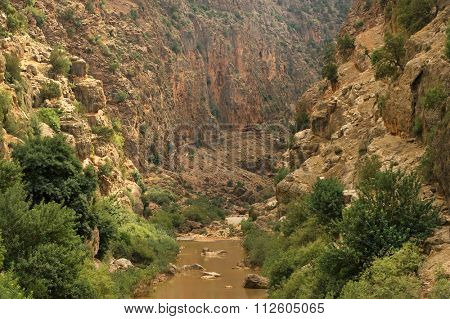 Ouzoud Gorges located in the Grand Atlas, Azilal province in Morocco, Africa poster