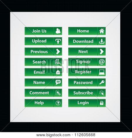 set of Web Design buttons Theme vector illustration