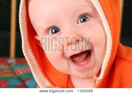 Smile Baby Boy With Tooth