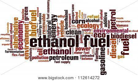 Ethanol Fuel Word Cloud