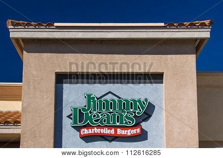 Jimmy Dean's Charbroiled Burgers Exterior And Logo