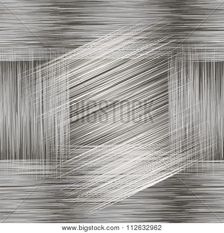 Seamless Geometric Grunge Striped Pattern In Black,white ,grey Colors