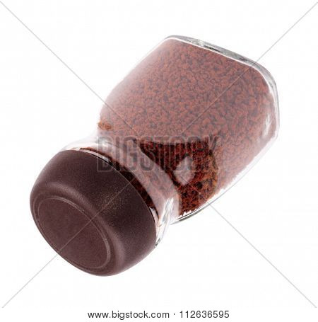 Jar Of Instant Coffee Isolated