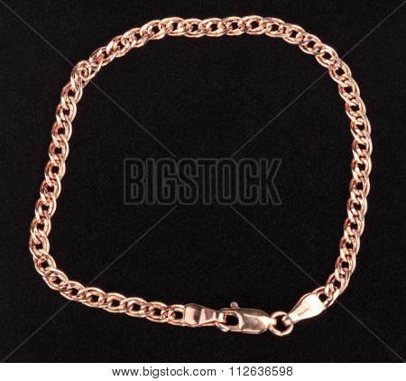 Red Gold Chain Bracelet