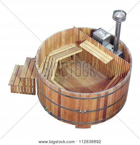 Wood Sauna And Steam Bath