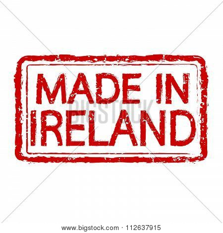 Made In Ireland Stamp Text Illustration