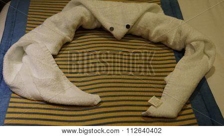 Towel Animal in a Cruise Ship Cabin