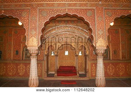 View Of Maharajah Rooms Of Junagarh Fort