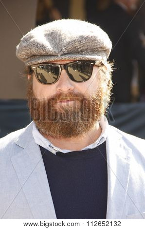 LOS ANGELES, USA - Zach Galifianakis at the Los Angeles Premiere of