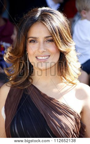 WESTWOOD, CALIFORNIA - October 23, 2011. Salma Hayek at the Los Angeles premiere of