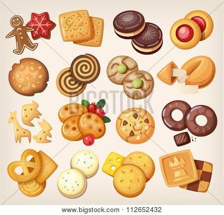 Set Of Vector Cookies.