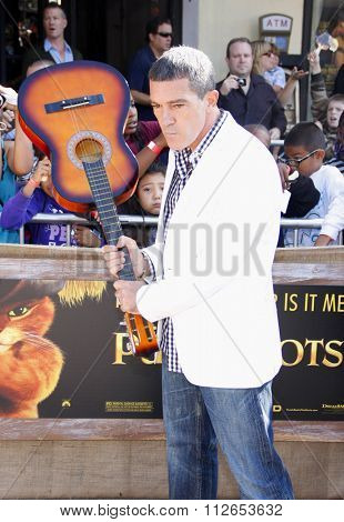Antonio Banderas at the Los Angeles Premiere of