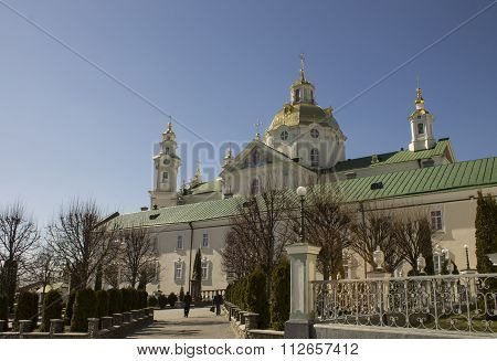 Orthodox Church And Its Dome In Pochayiv Lavra