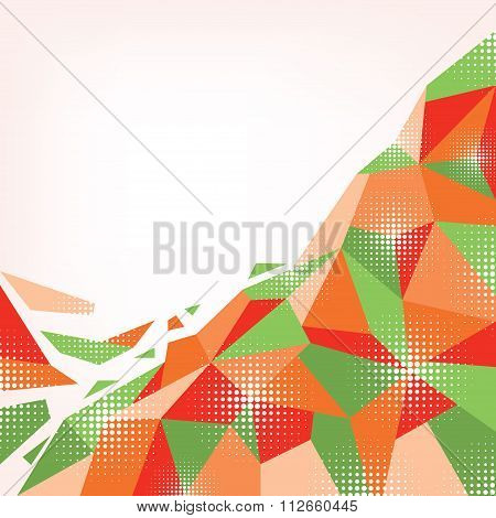 Abstract Orange-green Background