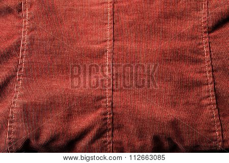 Ribbed corduroy fabric