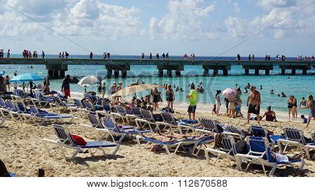 Governor's Beach on Grand Turk Island in the Turks and Caicos Islands