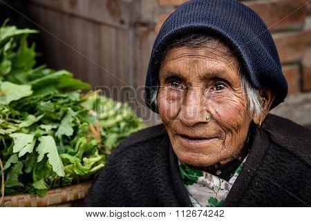 An Elderly Woman Bhaktapur.