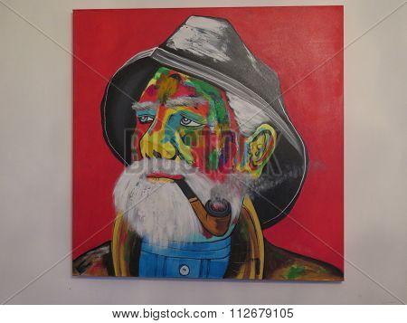 Painting Of Old Seadog