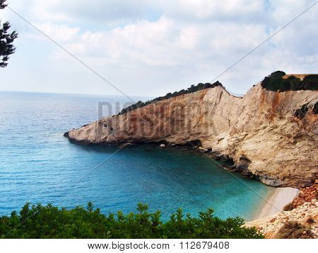 Porto Katsiki beach in Leukada Greece