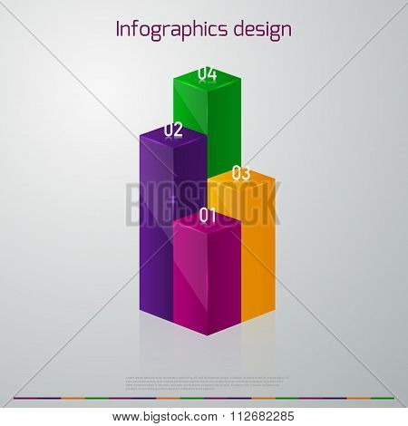 Vector illustration infographics vertical columns