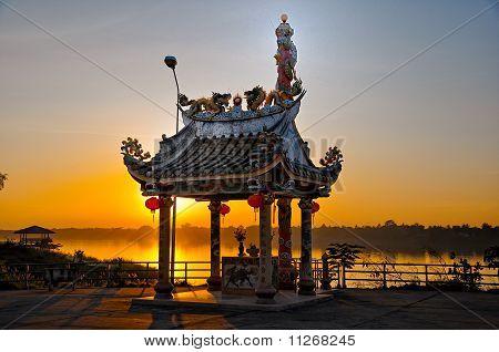 the shrine near Mekong river