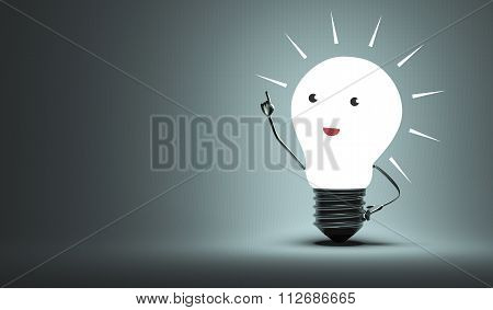Inspired Light Bulb Character