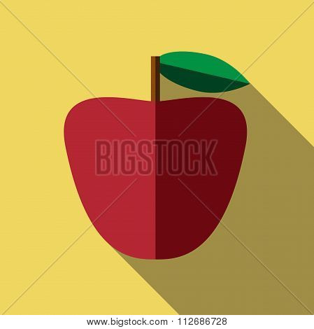 Red Apple, Flat Style