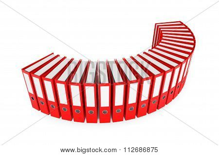 Red Achive Office Binders