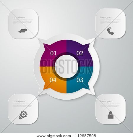 Vector illustration infographics circle