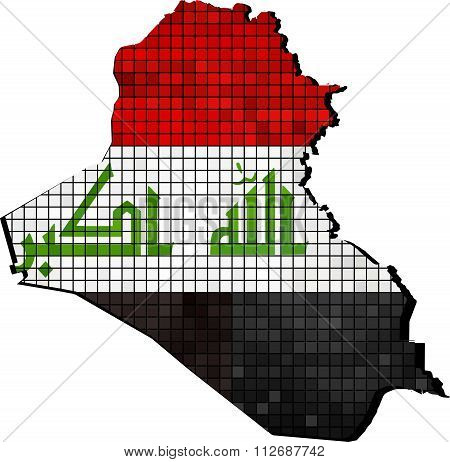 Iraq Map With Flag Inside.eps