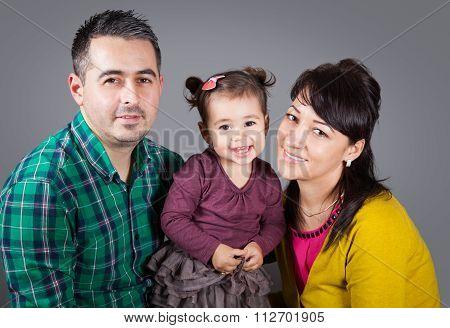 Family Of 3 In Studio