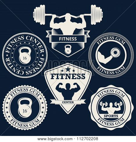 Vector illustration logos fitness center