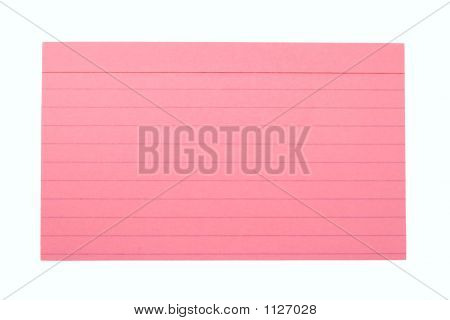 Index Card Lined Pink