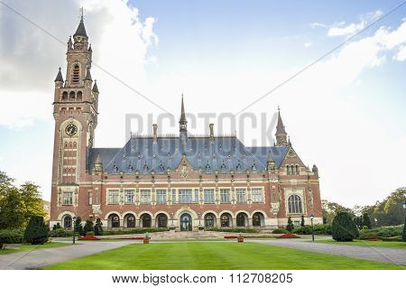 A View At The Peace Palace In Hague Netherlands