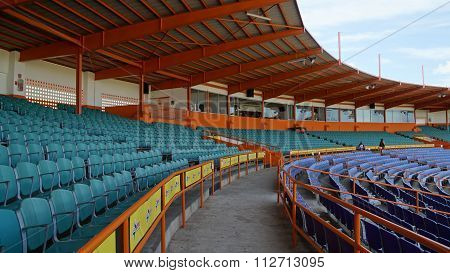 LA ROMANA, DOMINICAN REPUBLIC - NOV 24: Francisco A. Micheli stadium in La Romana, Dominican Republic, as seen on Nov 24, 2015. It is the home of the Dominican professional team, the Toros del Este.