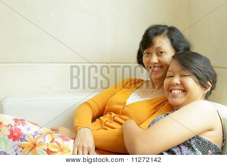 Happy Mother And Teen Daughter