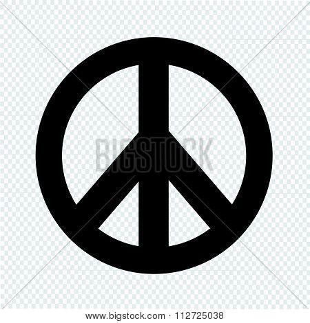 Hippie Peace Symbol Icon Illustration