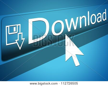 Mouse Cursor pointing at Download Text, Arrow Pointer