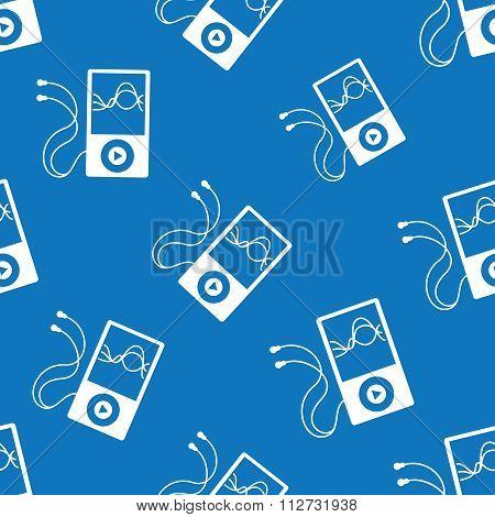 Music player seamless pattern