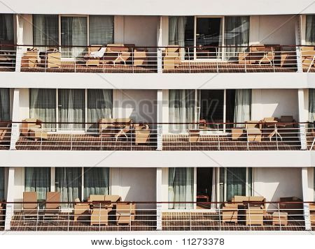View Of  Cruise Line Ship Balcony
