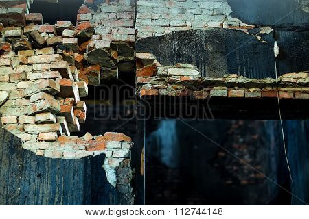 Ruined Brick Bulding