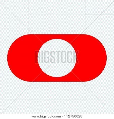 Toggle Switch Icon Illustration Design