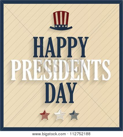 Presidents Day retro poster